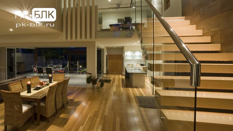 Лестница деревянная консольная