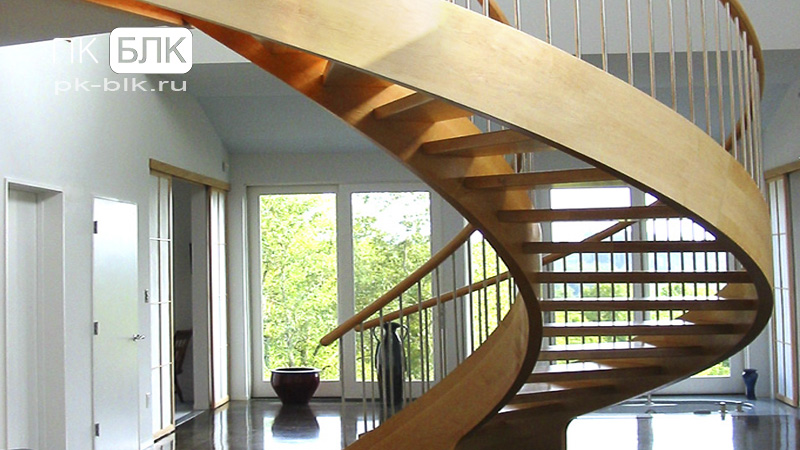 Лестницы на деревянных тетивах