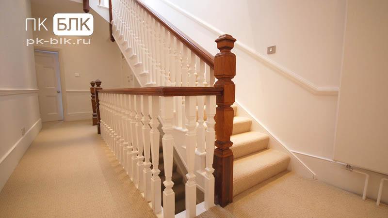 Монолитная лестница прямая