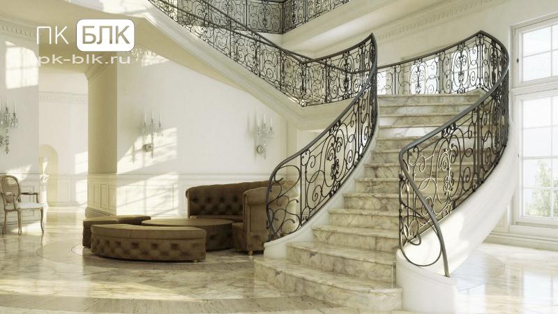 элитные лестницы из мрамора