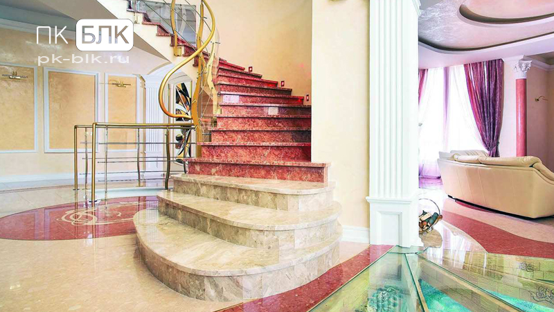 элитные мраморные лестницы