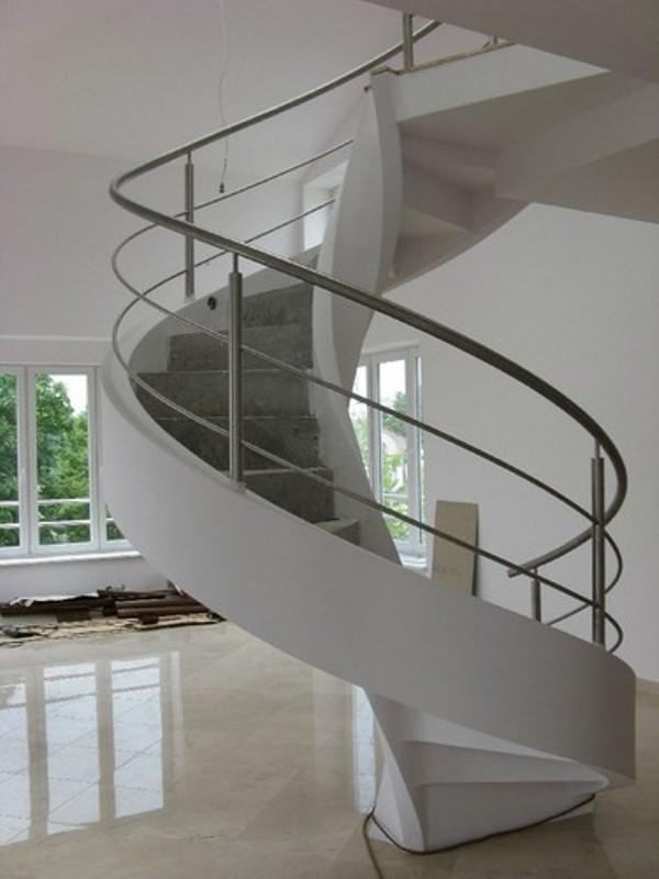 Виды конструкций винтовых лестниц