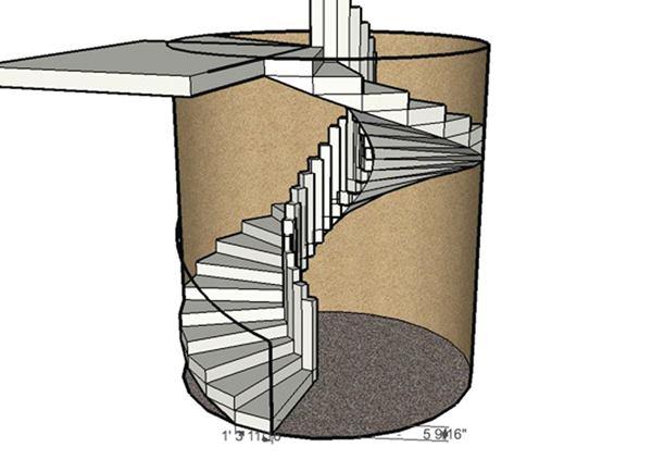 винтовая лестница чертеж