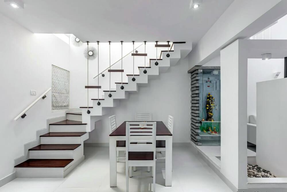 бетонная парадная лестница